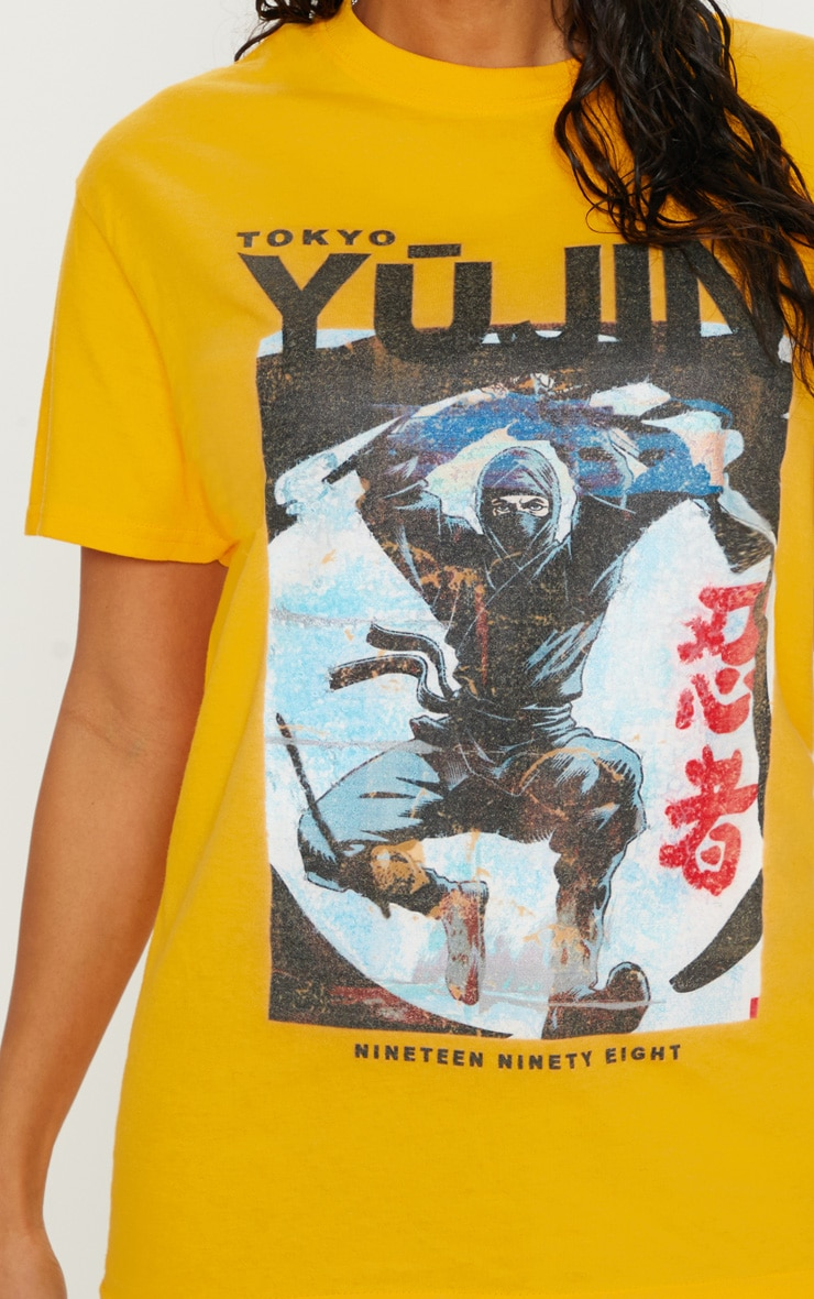 Yellow Tokyo Samurai Printed T shirt 6