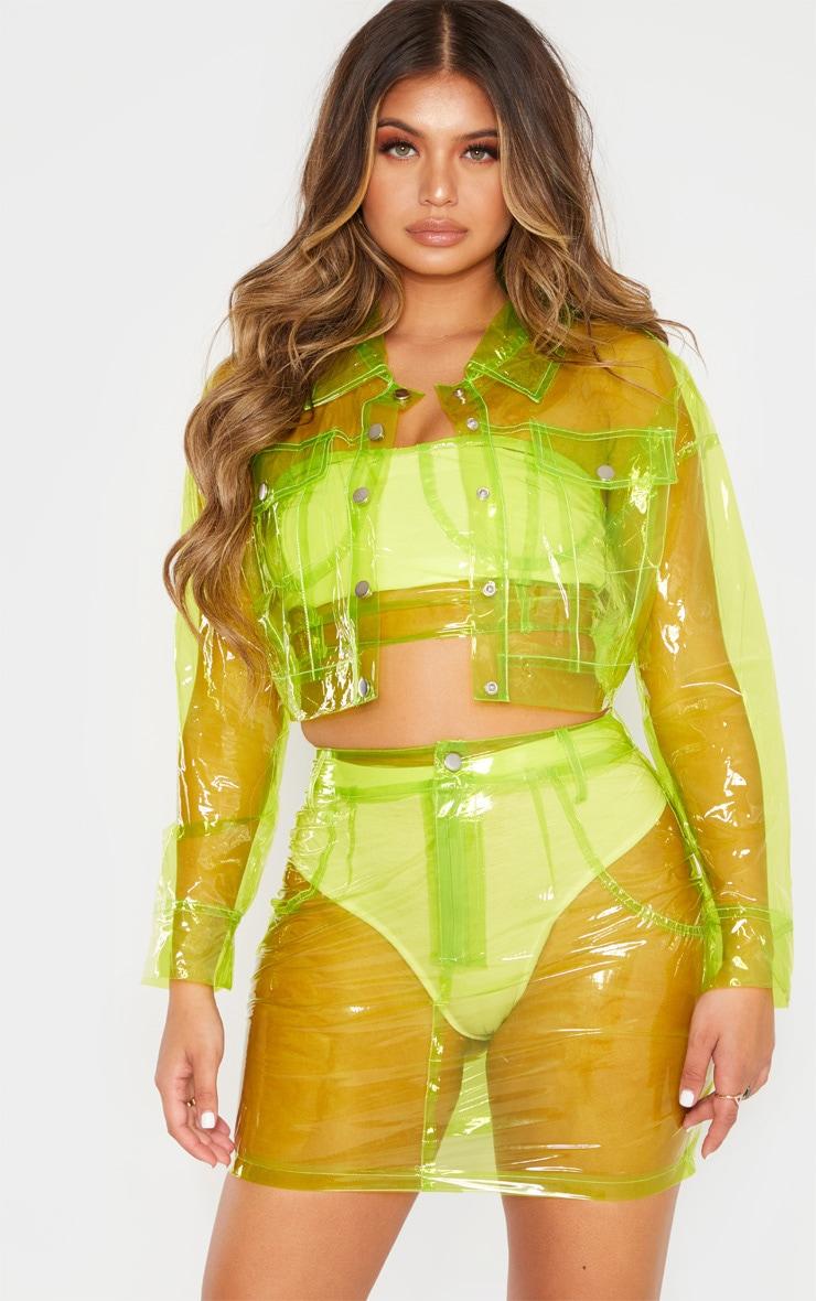 Lime Transparent Crop Jacket 1