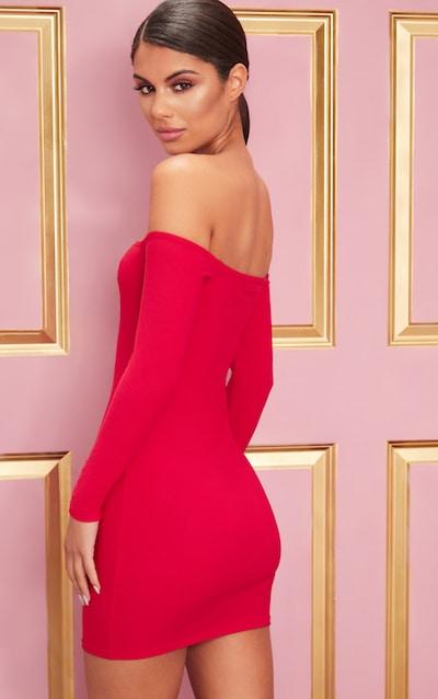 Red Bardot Bodycon Dress