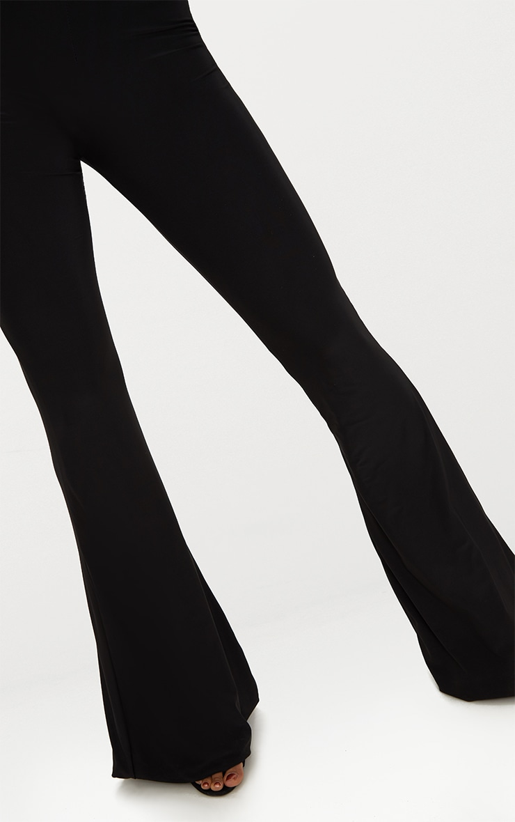 Black Slinky Flared Trousers 5