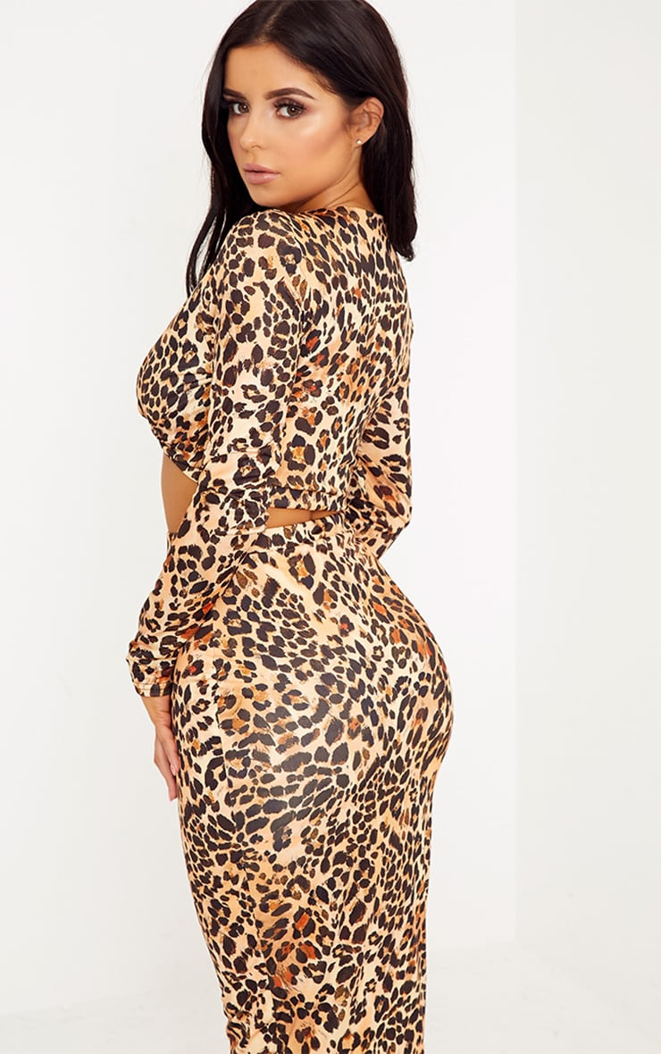 Shape Lexis Leopard Print Co-ord Top 2