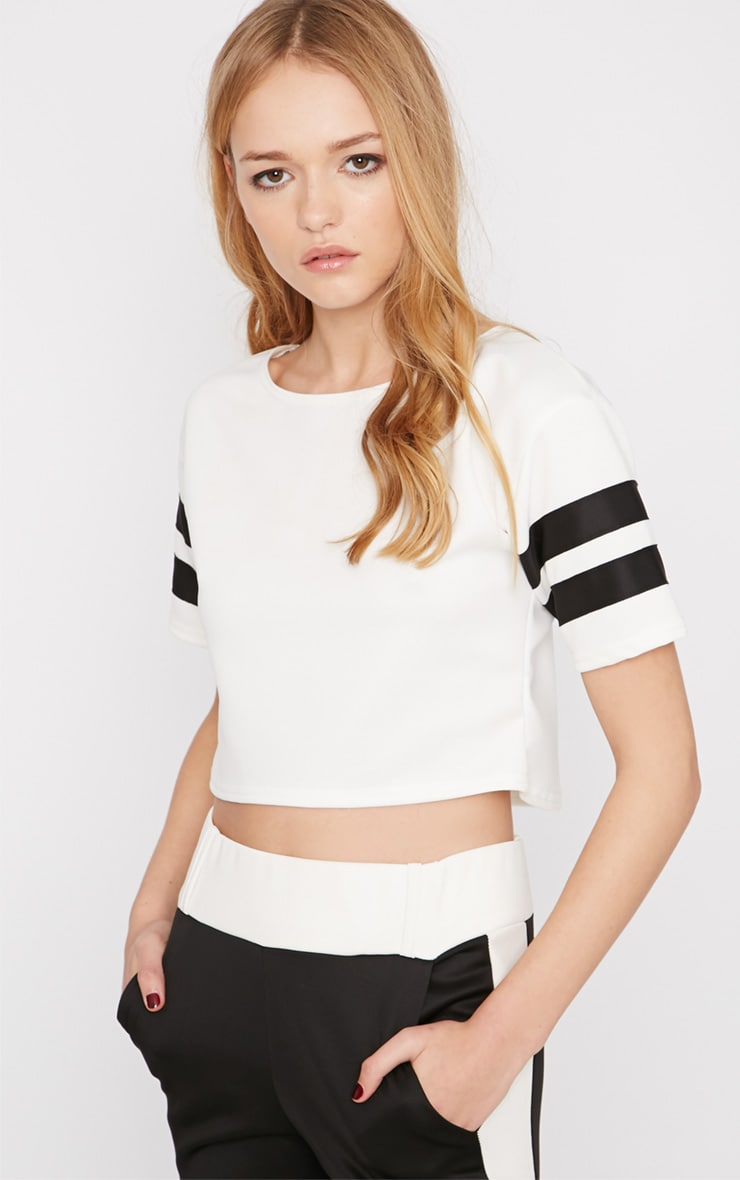 Shebah Monochrome Crop Top  1