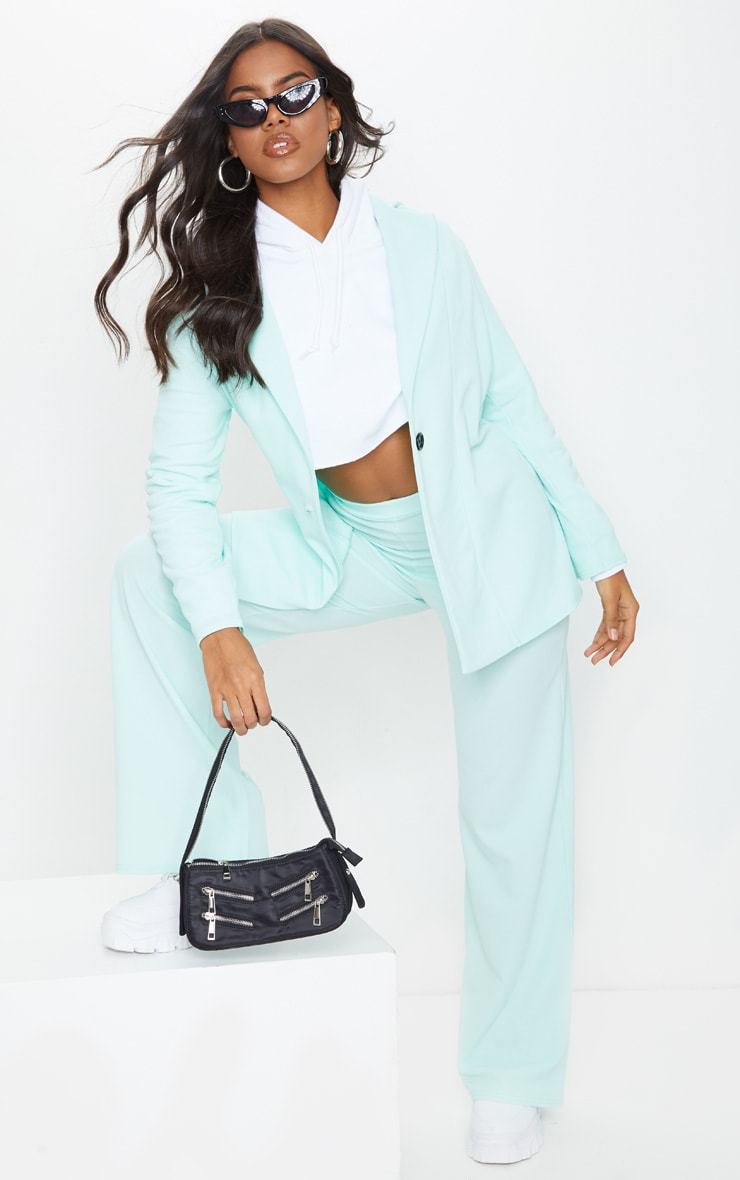 Mint High Waisted Wide Leg Pants 1