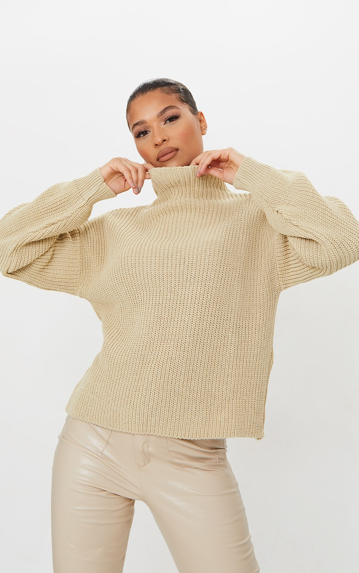 Stone High Neck Sweater 1
