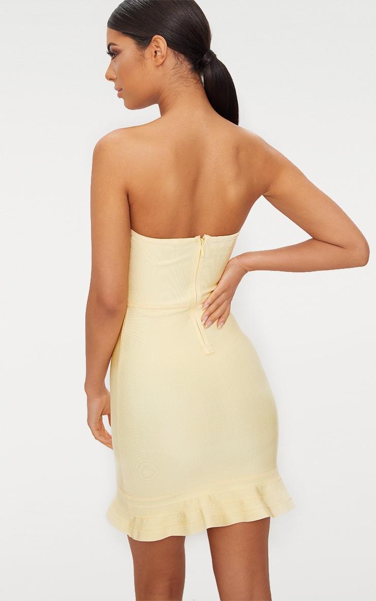 Lemon Bandage Frill Hem Bodycon Dress 2