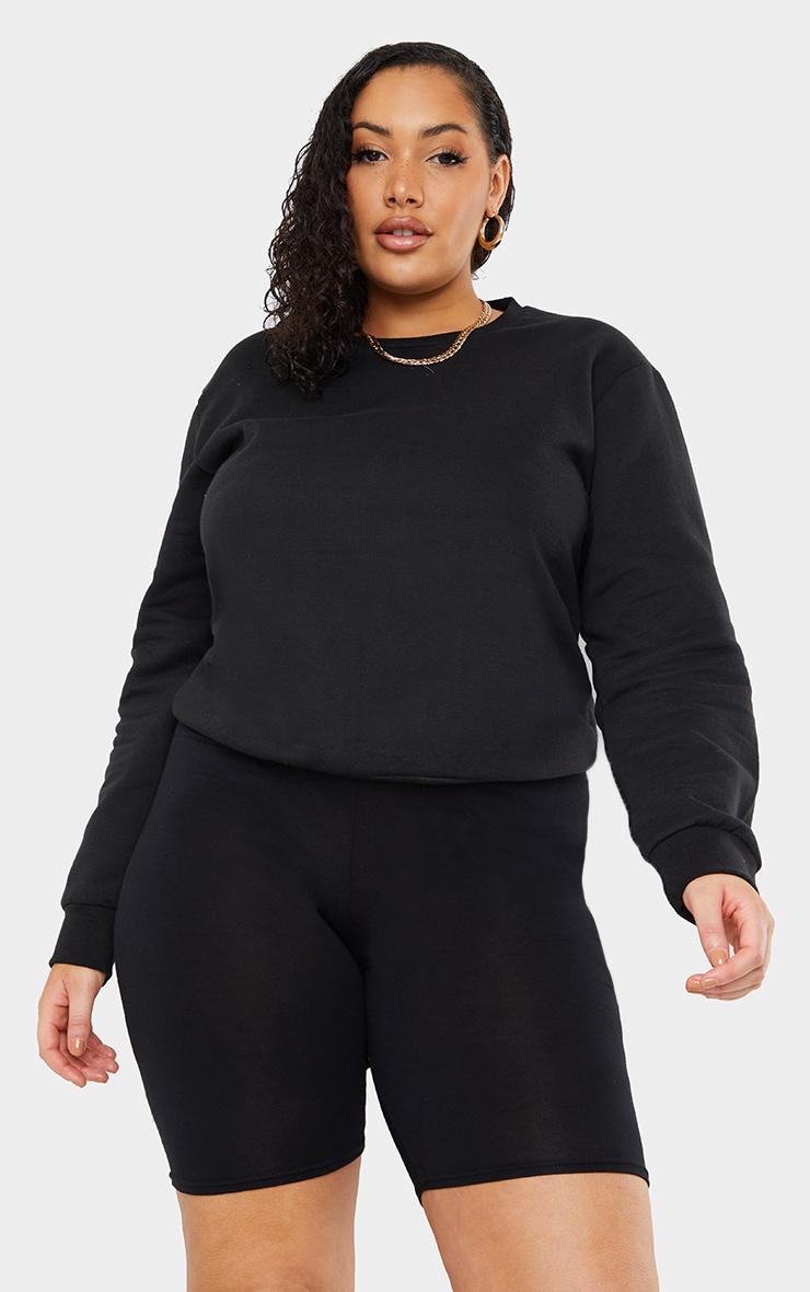 Plus Basic Black Sweater 1
