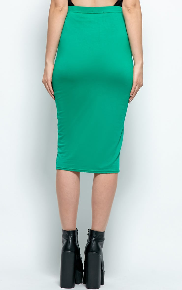 Candice Yellow Jersey Midi Skirt 1