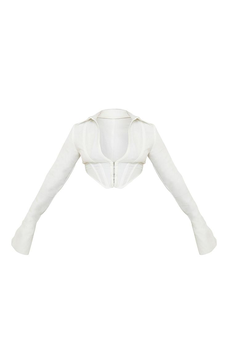 White Collar Long Sleeve Corset 6