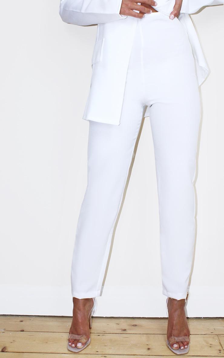 Petite Cream Woven Ankle Grazer Pants 2