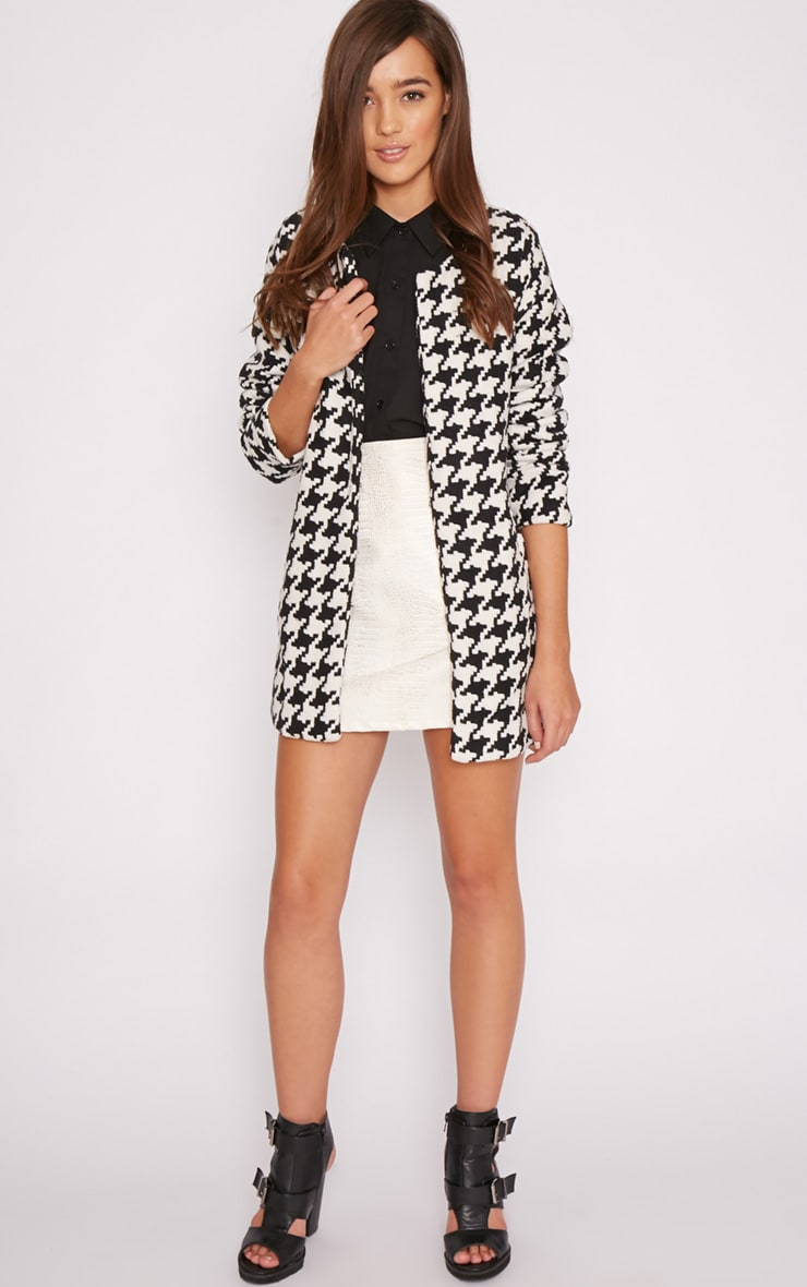 Megane Monochrome Dogtooth Coat 5