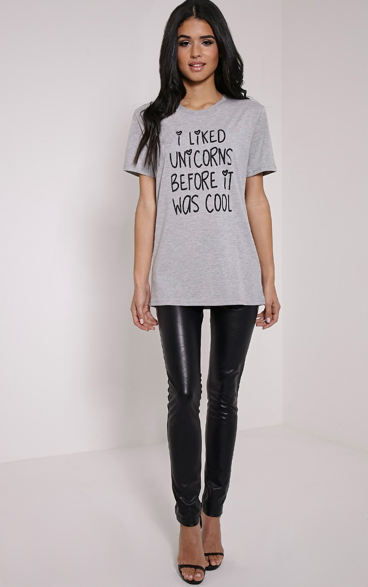 'I Liked Unicorns Before It Was Cool' Grey T-Shirt 3