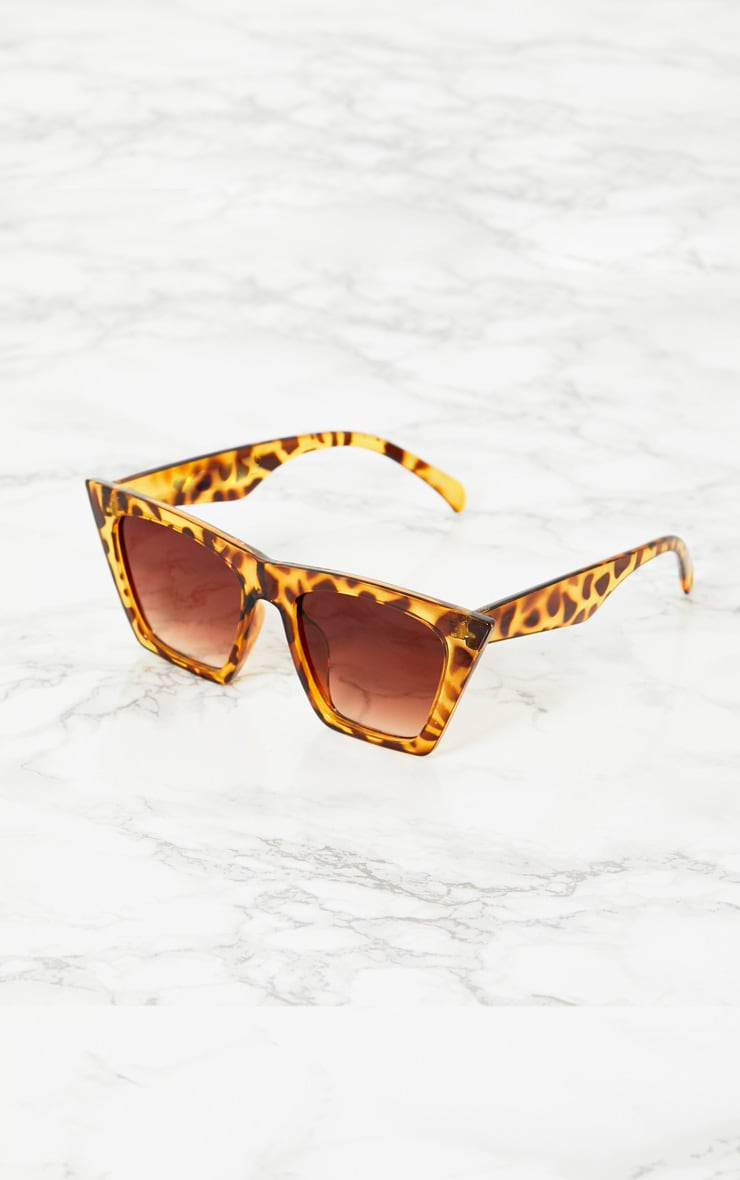 Leopard Angular Sunglasses 3