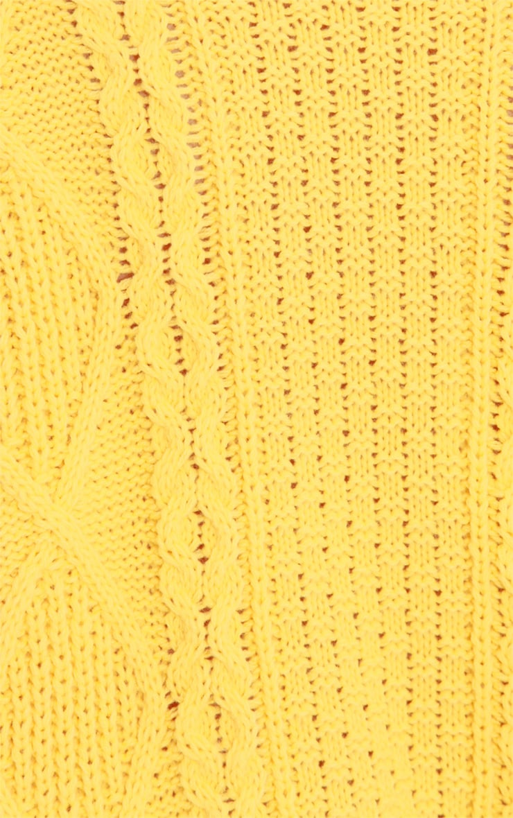 Alina Yellow Cable Knit Sweater  5