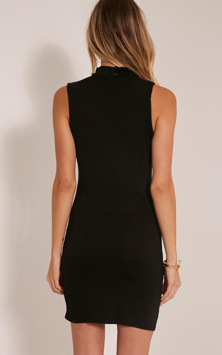 Amaris Black Choker Detail Bodycon Dress 2
