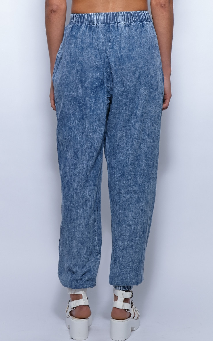 Rhonda Denim High Waist Harem Trousers 2