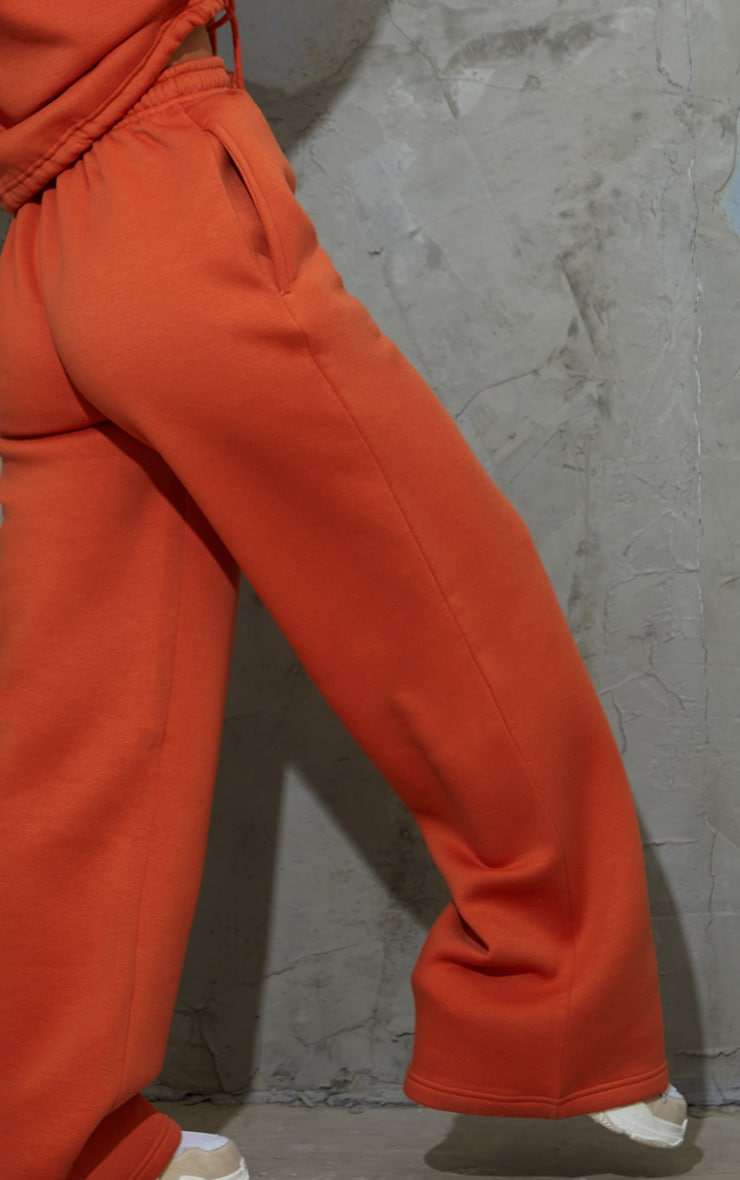 Burnt Orange Wide Leg Joggers 4