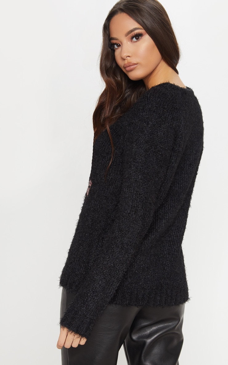 Black Merry Kissmas Jumper 2