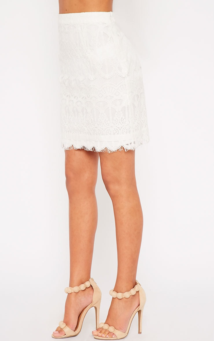 Linnea Cream Lace Skirt 4