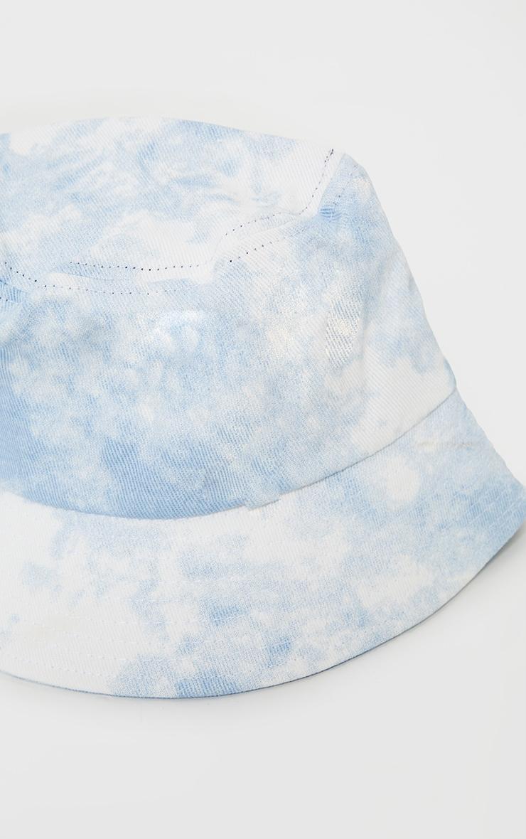Light Blue Tie Dye Bucket Hat 3