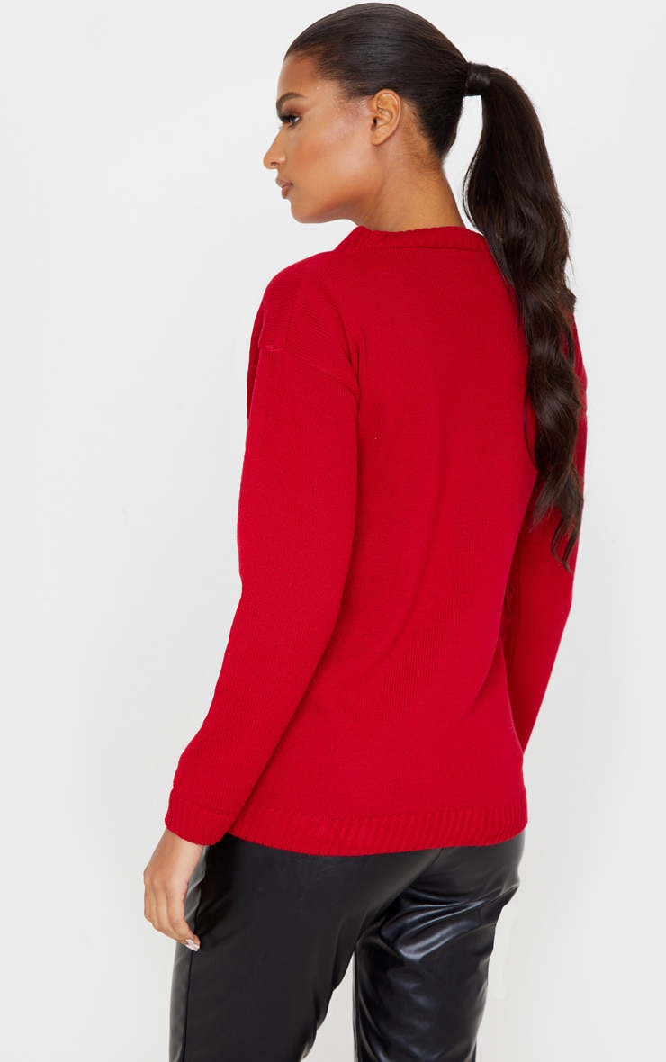 Red Christmas Pudding Jumper 2