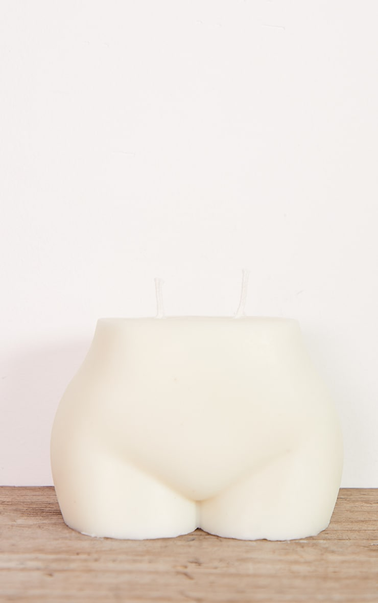 White Large Booty Candle 4