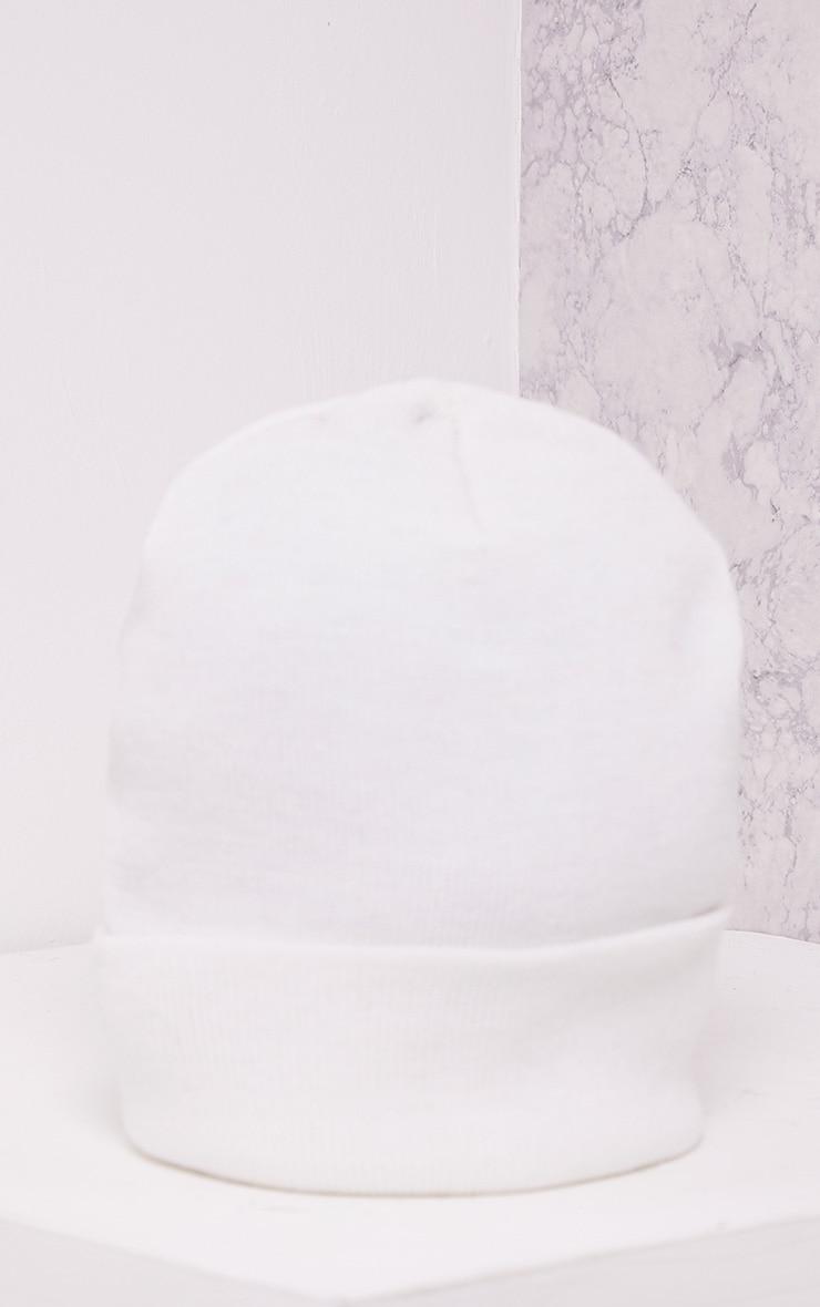 Linie White Beanie Hat 3