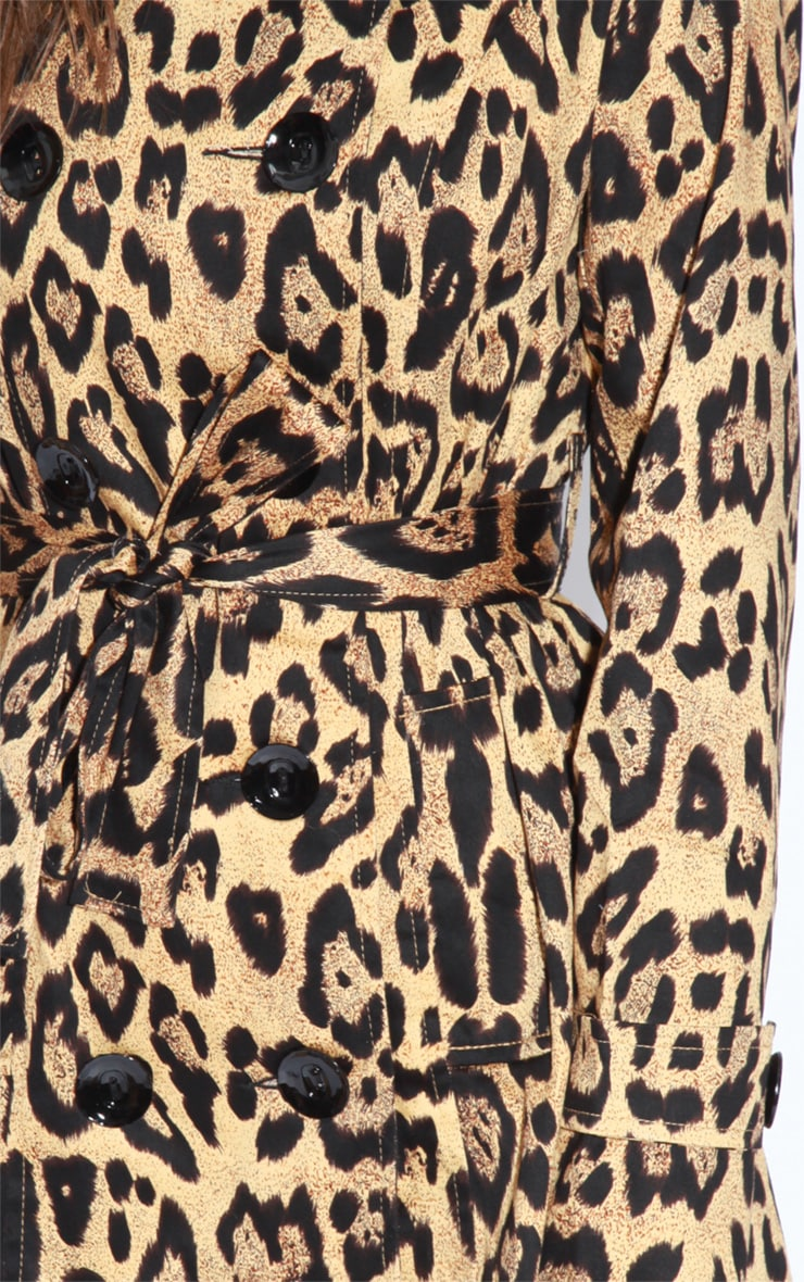 April Leopard Print Trench Coat 6