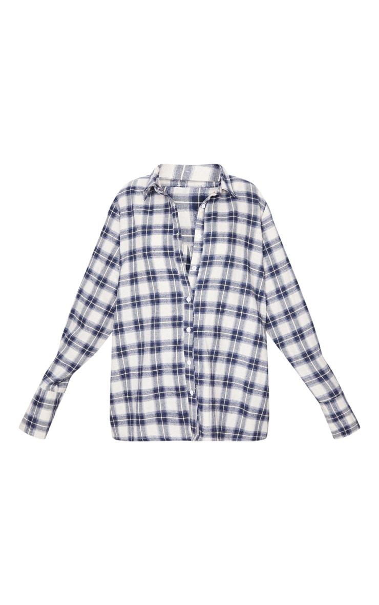 White Checked Oversized Shirt 3