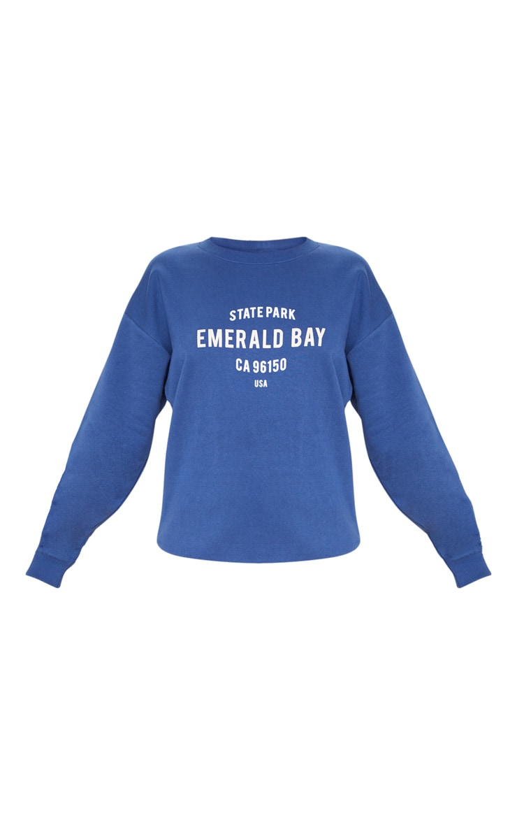 Midnight Blue Emerald Bay Slogan Sweater 3