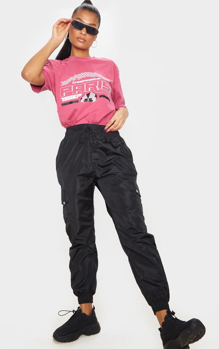 Pink Paris 1987 Washed T Shirt 3