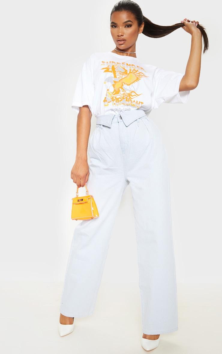 Bleach Wash Envelope Paperbag Baggy Jeans 1