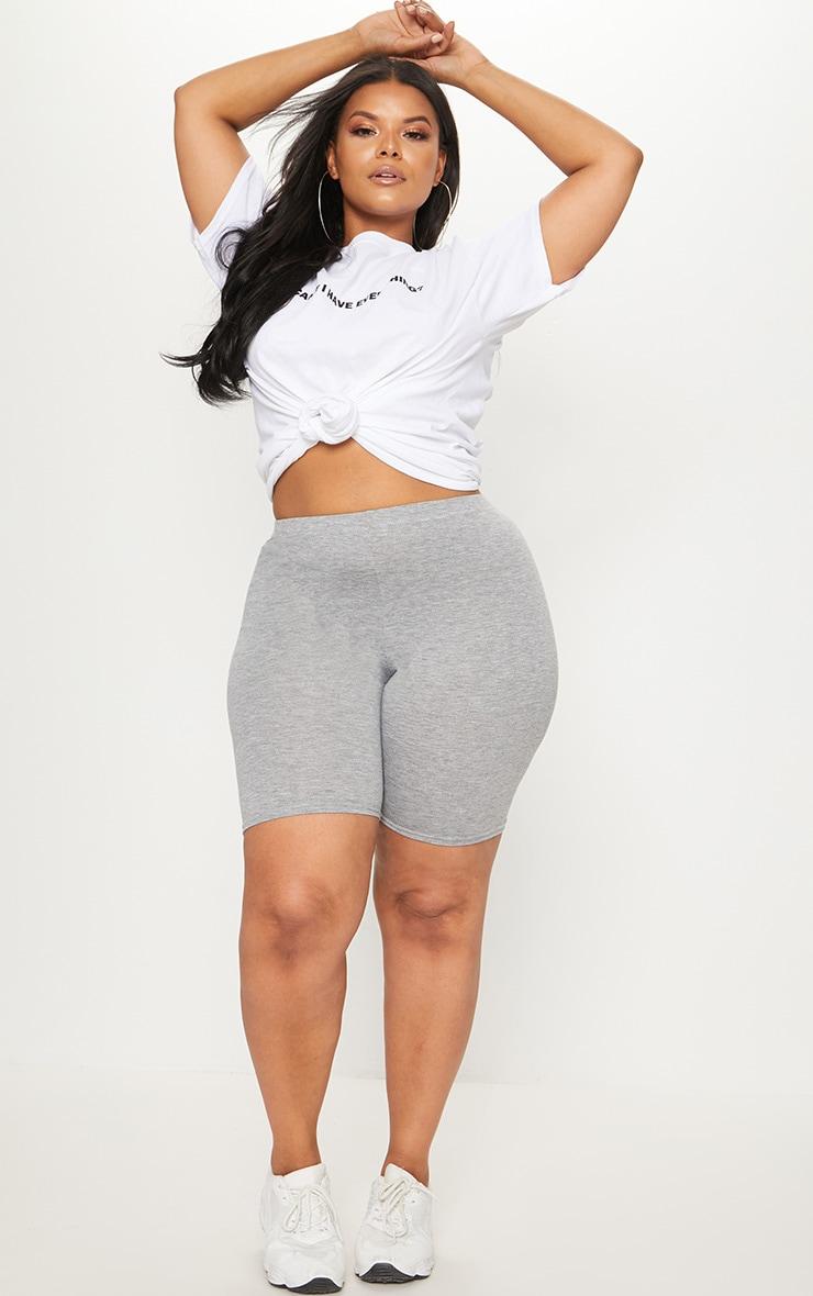 Plus Grey Marl Basic Cycle Shorts 5