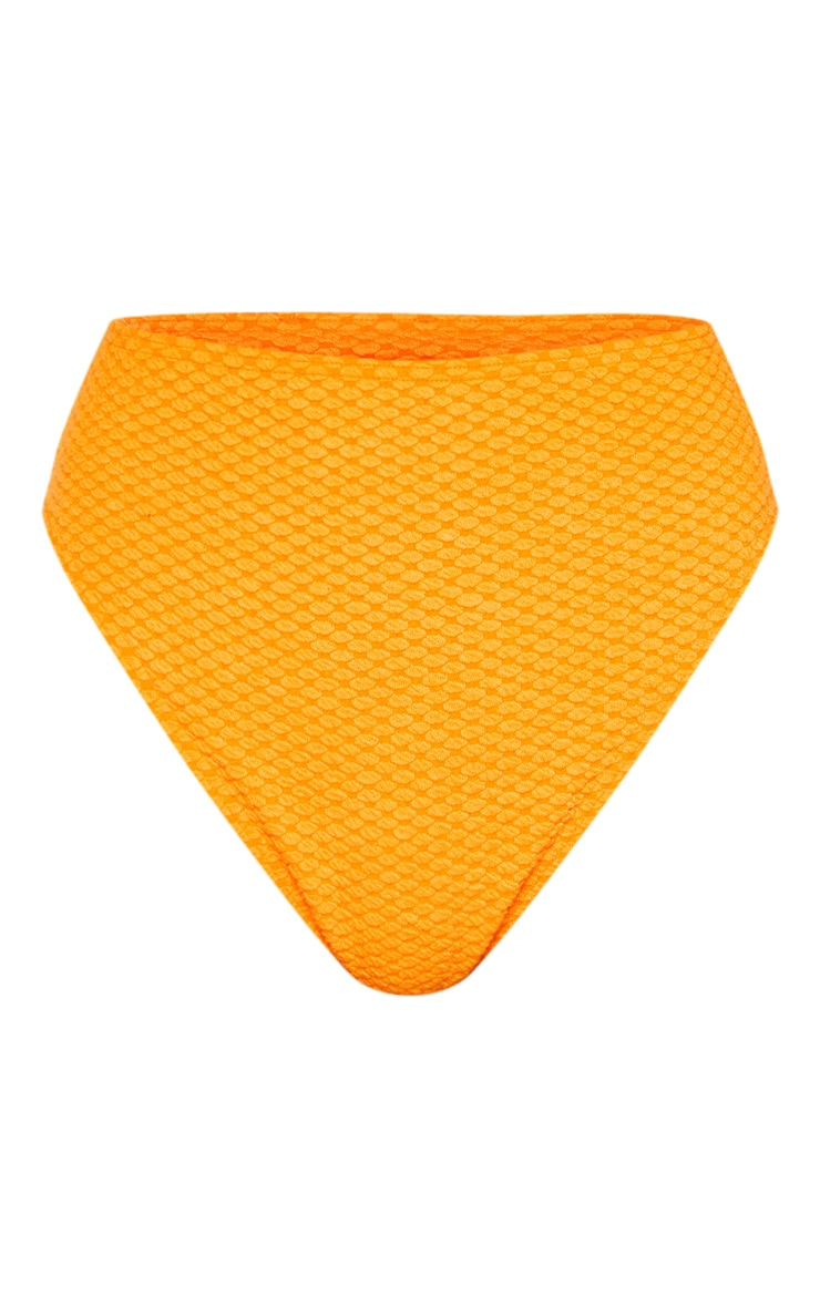 Orange Bubble Textured Bikini Bottom 3