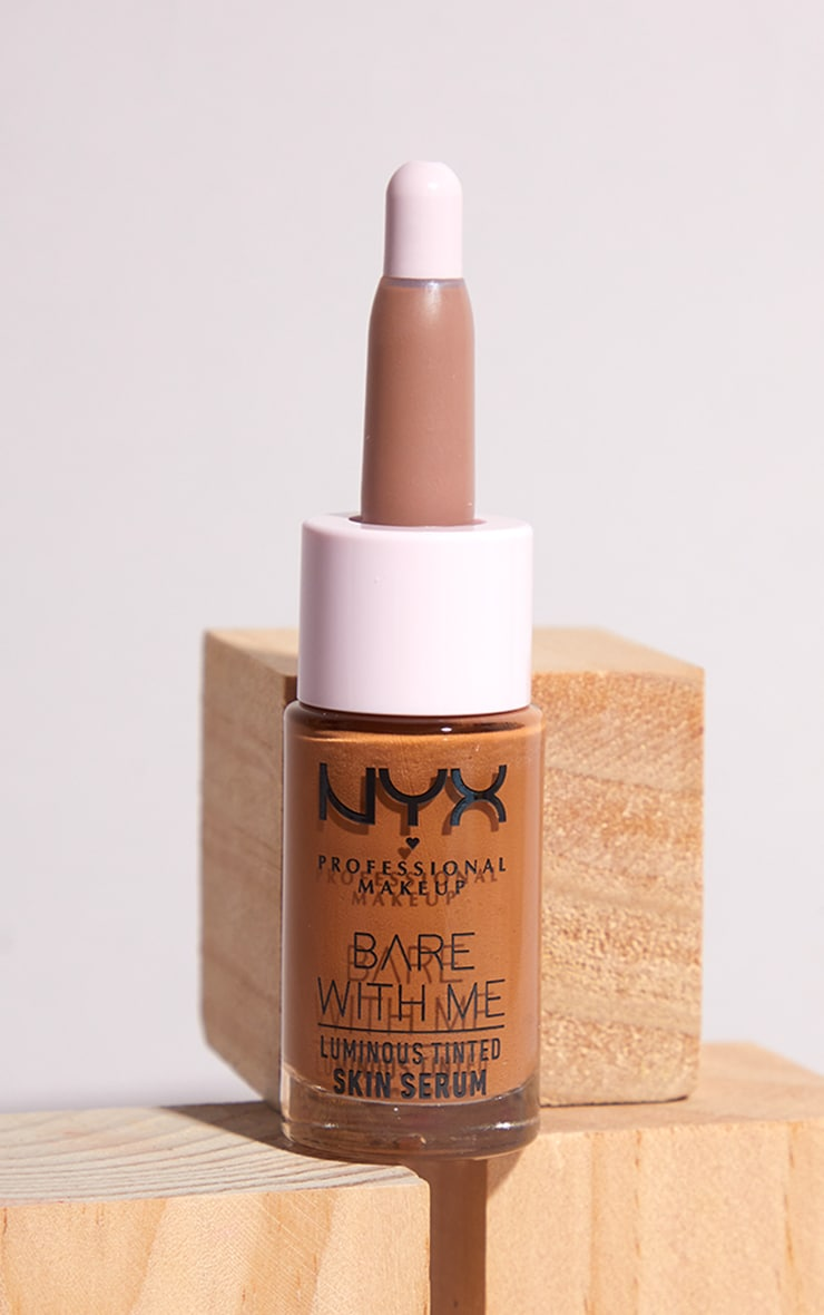 NYX PMU Bare With Me Luminous Tinted Skin Serum Medium Deep 1