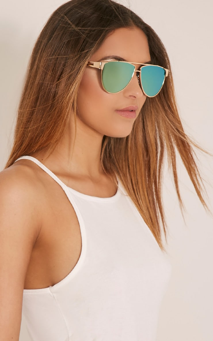 Galice Gold Frame Sunglasses 1