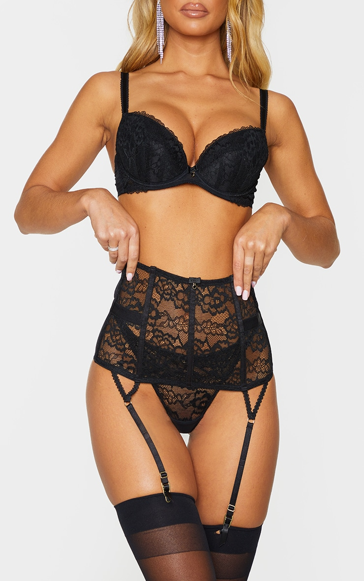 black ann summers sexy lace waspie with suspender straps