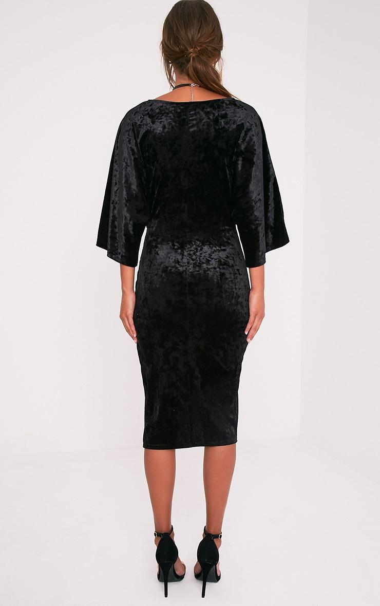 Archer robe midi cape velours noire 2