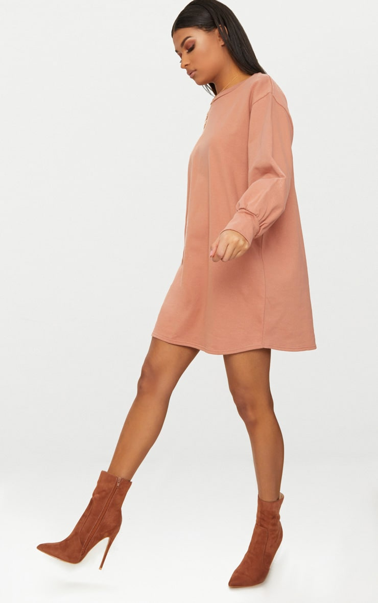 Deep Peach Oversized Sweater Dress 4