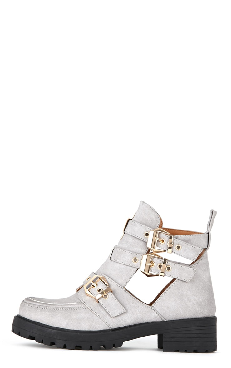 Jennifer Grey Cut Out Buckle Boots 1