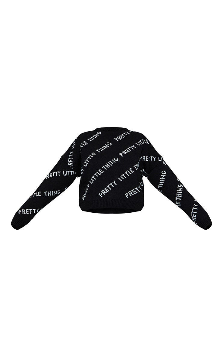 PRETTYLITTLETHING Black Knitted Jumper 5