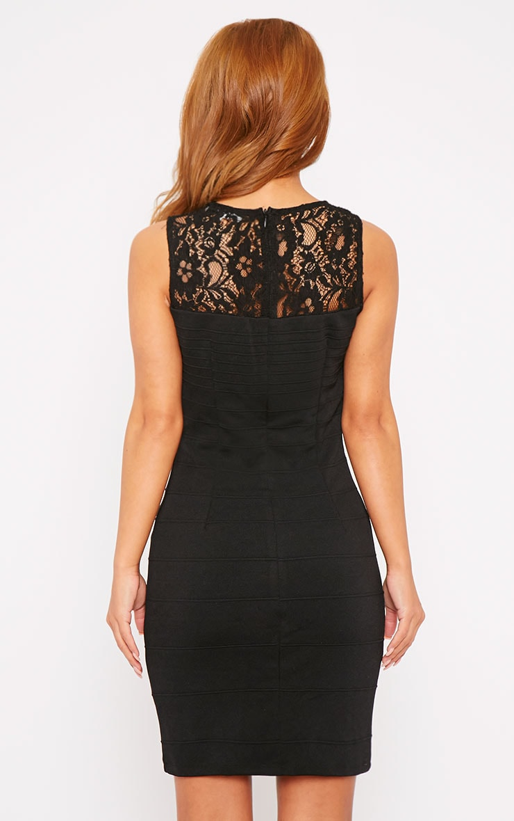Primrose Black Lace Top Bandage Dress 3