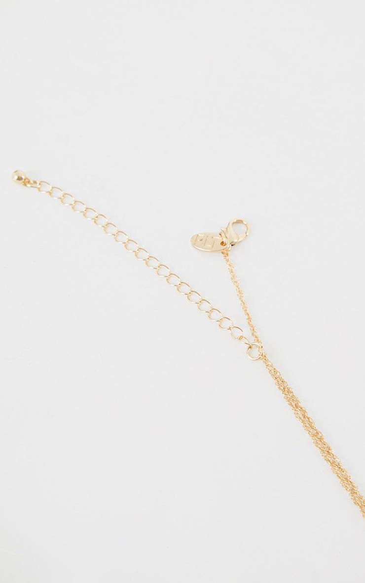 Gold Butterfly Diamante Neckalce 4