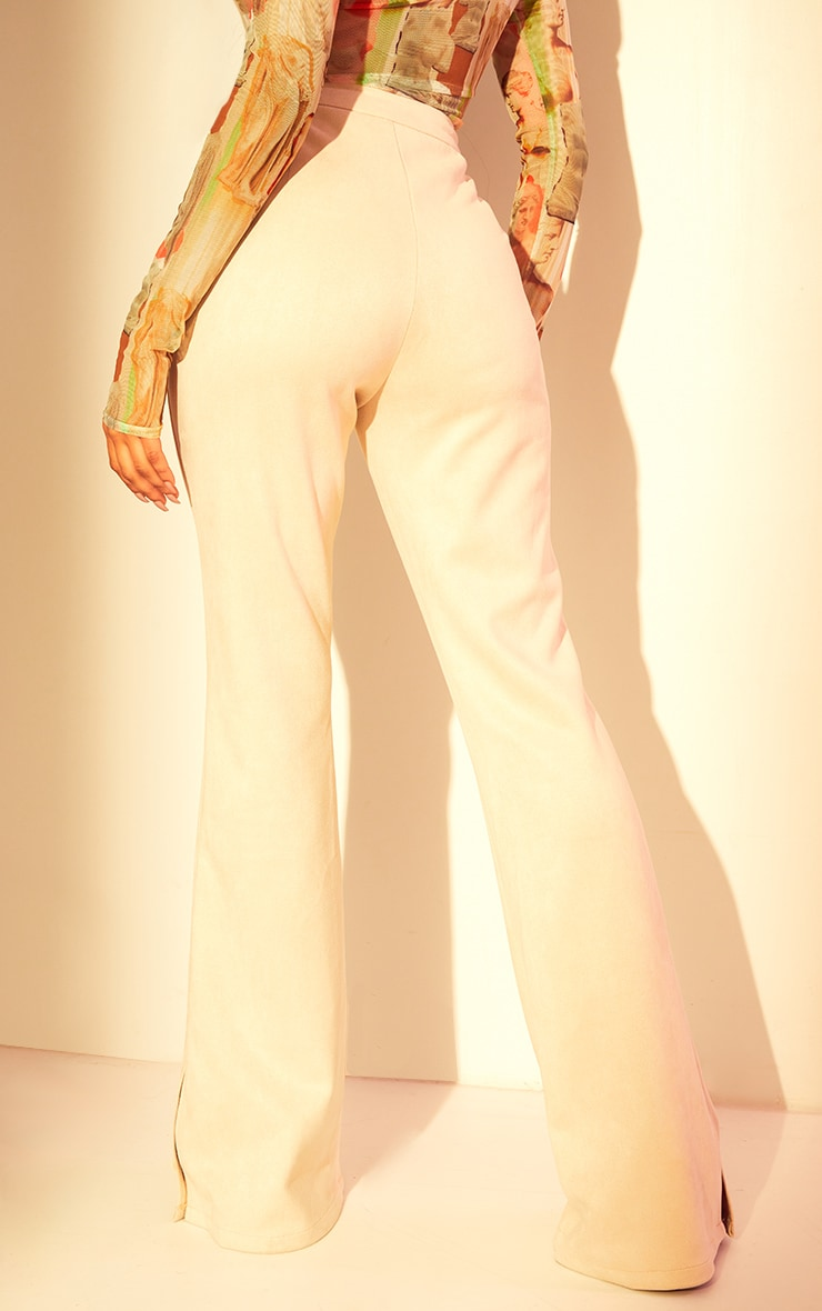 Stone Bonded Suede Flare Pants 3