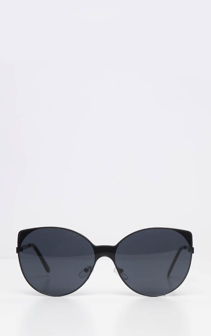 Black Round Pointed Sunglasses     2