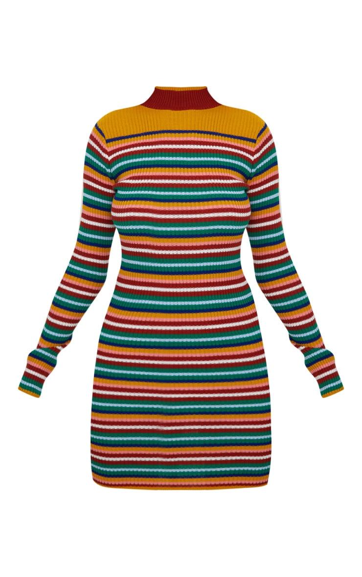 Multi Stripe Rib Dress 3