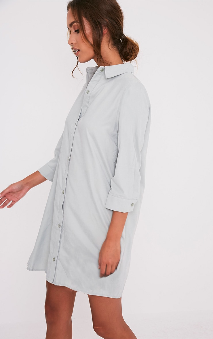Leni Sage Green Shirt Dress 4
