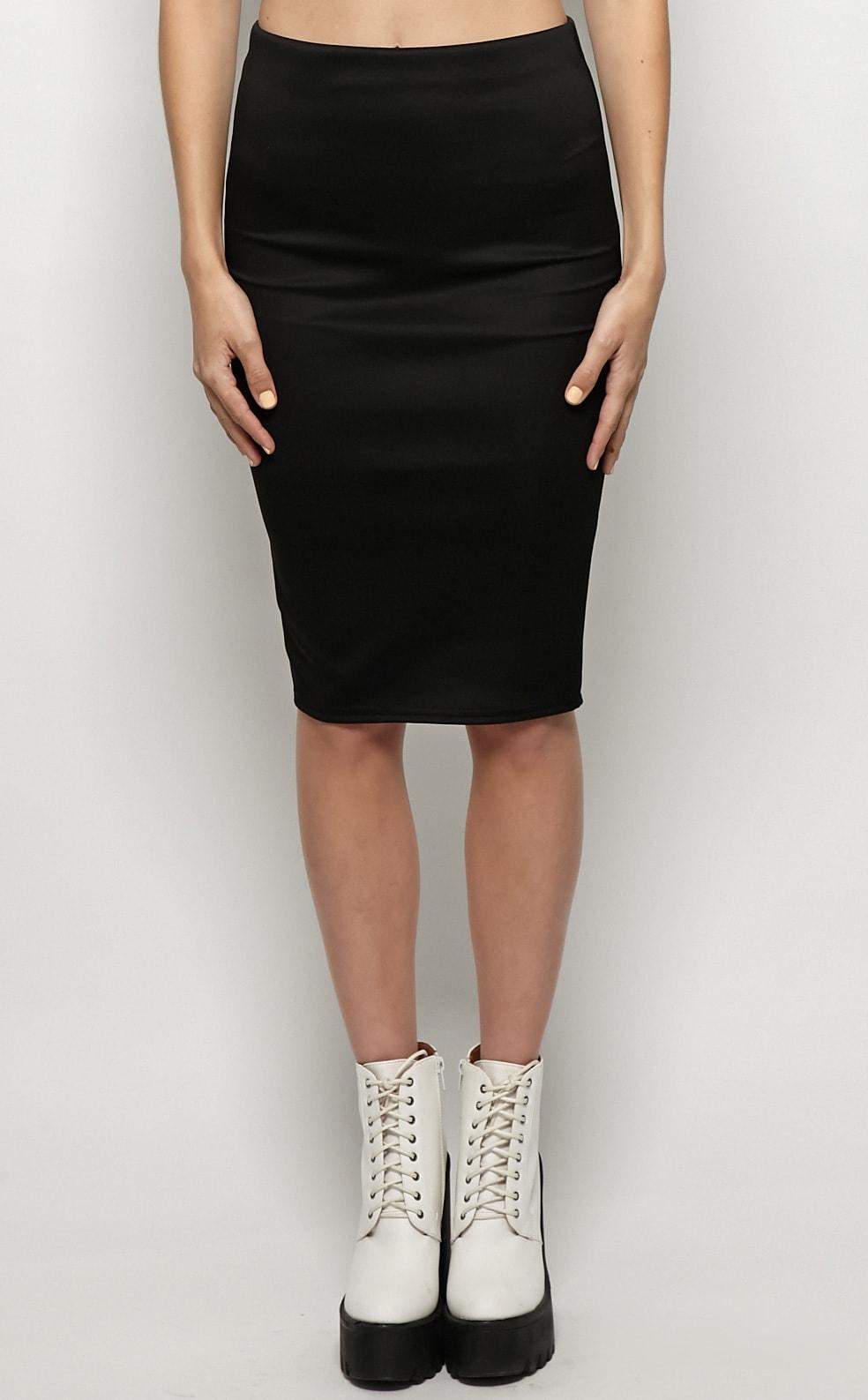 Connie Black Premium Midi Skirt 3