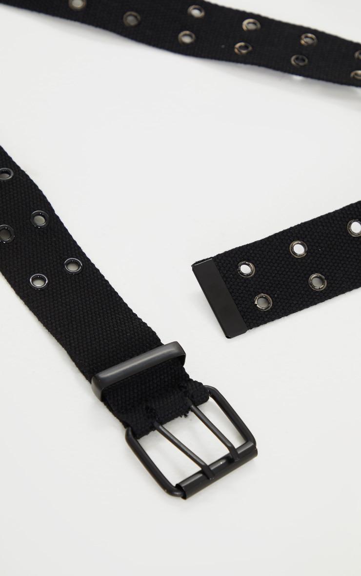 Black Eyelet Taping Belt 3