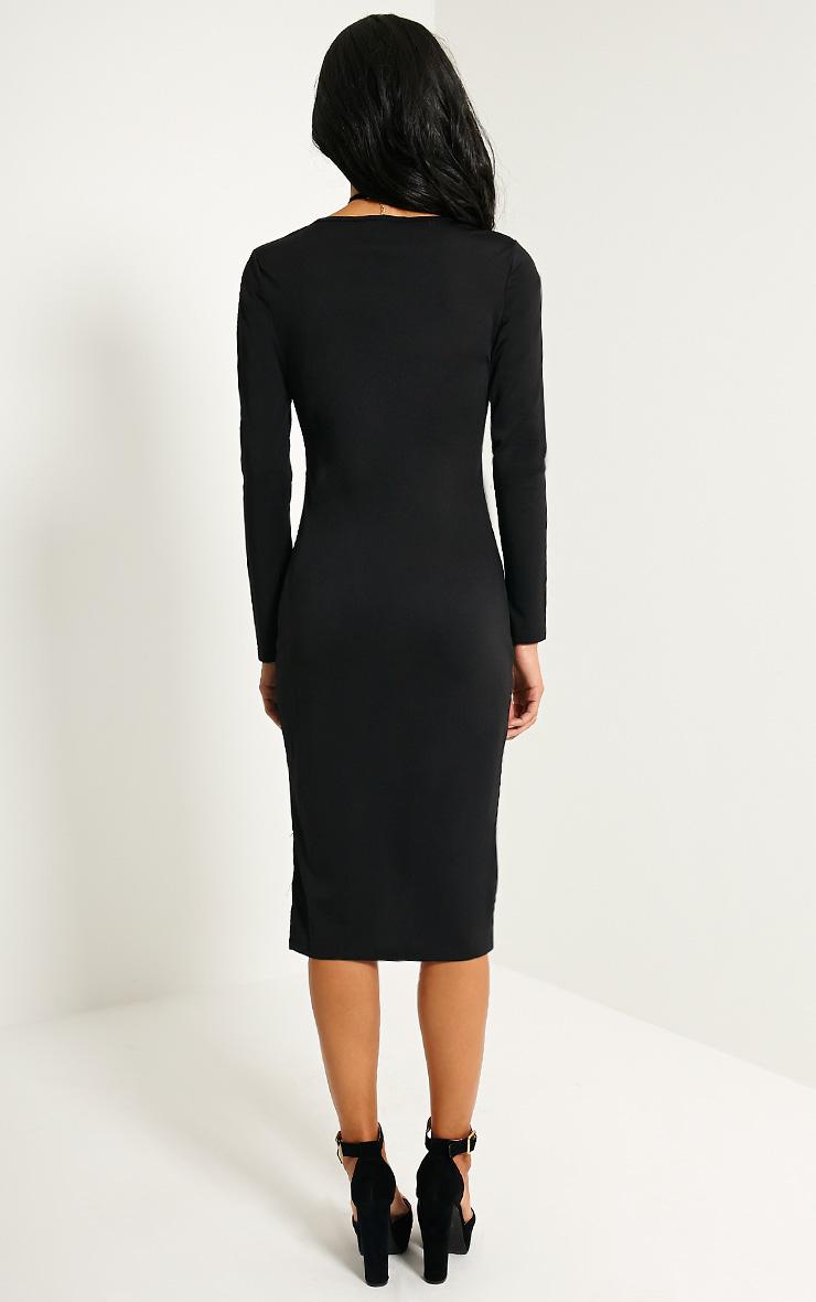 Quin Black Lace Drop Hem Dress 2