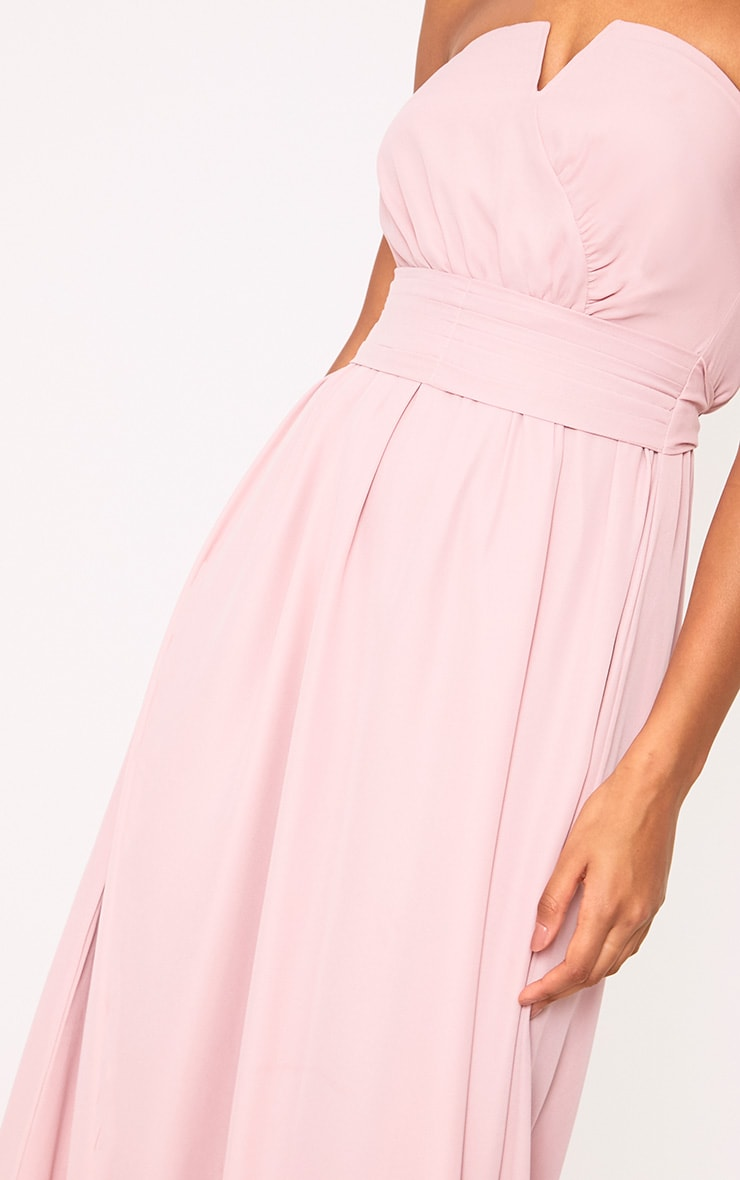 Lainey Dusty Pink Bandeau Maxi Dress 5